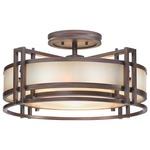 Underscore Ceiling Semi Flush Light - Cimmaron Bronze / Brushed Caramel