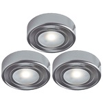 2-in-1 Puck Light Kit - Satin Nickel / Frosted