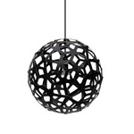 Coral Pendant - Bamboo / Black / Black