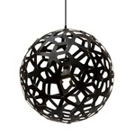 Coral Pendant - Bamboo / Black