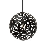 Floral Pendant - Bamboo / Black