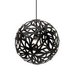 Floral Pendant - Bamboo / Black / Black
