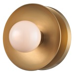 Julien Wall / Ceiling Light - Aged Brass / Opal