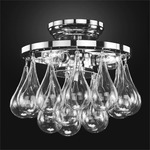 Concorde Ceiling Light Fixture - Chrome / Clear