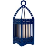 Line Lantern Table Lamp - Blue