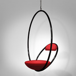 Hanging Hoop Chair - Black / Red