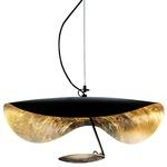Lederam Manta Pendant - Black / Gold Leaf