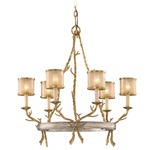 Parc Royale Chandelier - Gold & Silver Leaf / Golden Ice