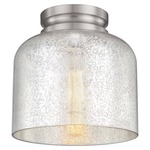 Hounslow Ceiling Light Fixture -  / Silver Mercury / Brushed Steel