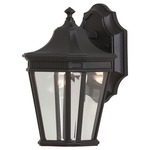 Cotswold Lane 5400 Outdoor Wall Light - Black / Clear Beveled