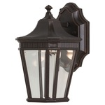Cotswold Lane 5400 Outdoor Wall Light - Grecian Bronze / Clear Beveled
