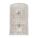 Westville Bathroom Vanity Light - Polished Nickel / Crystal