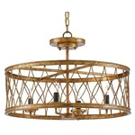 Crisscross Ceiling Light Fixture - Gold Leaf /