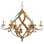 Gramercy Chandelier - Gold Leaf /