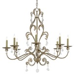 Pompeii Chandelier - Antique Silver / Crystal