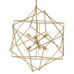 Aerial Chandelier - Antique Gold Leaf /
