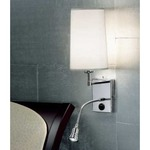 3204 Wall Light - Chrome / White