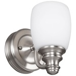 Bentley Bathroom Vanity Light - Satin Nickel / White Opal Etched