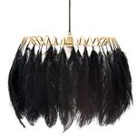 Feather Pendant Lamp - Black