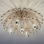 Anemone Wall / Ceiling Light - Polished Nickel