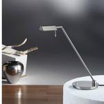 Bernie Desk Lamp - Satin Nickel /