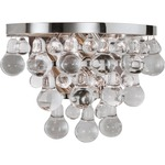 Bling Wall Light - Polished Nickel / Crystal