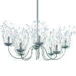Candles And Spirits Oval Chandelier - Nickel / Crystal