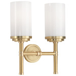 Halo Wall Light - Brushed Brass / White Glass