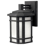 Cherry Creek Outdoor Wall Light - Vintage Black / White Linen