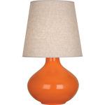 June Table Lamp - Pumpkin / Buff Linen