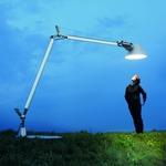 Tolomeo XXL Outdoor Floor Lamp with Base - Aluminum / Aluminum