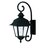 Westover Outdoor Wall Light - Textured Black / Clear