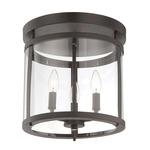 Penrose Ceiling Semi Flush Light - English Bronze / Clear