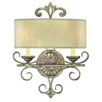 Savonia Wall Light - Oxidized Silver / Dupioni
