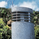 Ellipse Exterior Bollard - Granite / White
