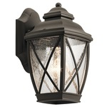 Tangier Outdoor Wall Light - Olde Bronze / Clear Seeded