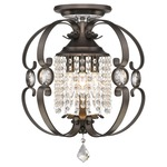 Ella Semi Flush Ceiling Light - Etruscan Bronze