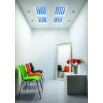 ST Tivano Linear Louver Artificial Skylight - White / Mirror