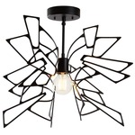 Monarch Semi Flush Ceiling Light - Black