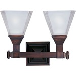 Brentwood Bathroom Vanity Light - Oil Rubbed Bronze / Frosted