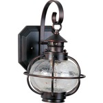 Portsmouth Outdoor Wall Mount - Oil Rubbed Bronze / Seedy Glass