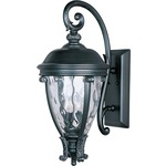 Camden VX Outdoor Wall Light - Black / Water Glass