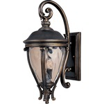 Camden VX Outdoor Wall Light - Golden Bronze / Water Glass