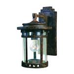 Santa Barbara VX Outdoor Wall Light - Sienna / Seedy Glass