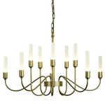 Lisse 10 Arm Chandelier - Soft Gold / Frosted