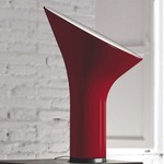 Grace Table Lamp - Black Chrome / Ruby Red