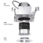H4 Led 4 Inch Architectural Housing
