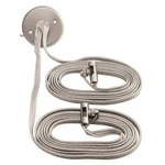 Monorail 2-Circuit Adjustable Dual Center Feed Canopy - Satin Nickel /