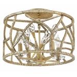 Eve Semi Flush Ceiling Light - Champagne Gold