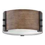 Sawyer Outdoor Ceiling Light Fixture - Sequoia / Etched Glass